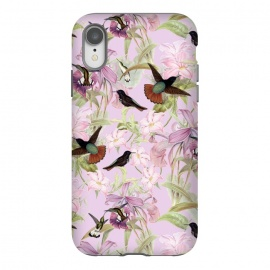 iPhone Xr  Flower and Bird Jungle  by Utart