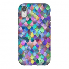 iPhone Xr  Colorful Carnival Wonky Metal Mermaid Scales by Utart