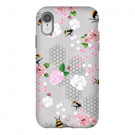 iPhone Xr  Buzz Bees by  (bees,buzz,flowers,florals,spring,summer,blooms)