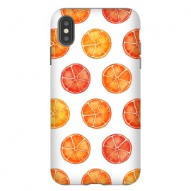 iPhone Xs Max  Orange Slices Citrus Print by Becky Starsmore