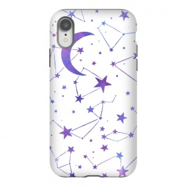 iPhone Xr  Watercolor Star And Moon Constellations by Becky Starsmore