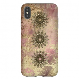 iPhone Xs Max  Golden Embellishments On Pink And Gold by Andrea Haase