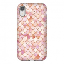 iPhone Xr  Wonky Rose Gold Mermaid Scales by