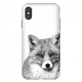 iPhone Xs Max  Black and White Fox by Alemi