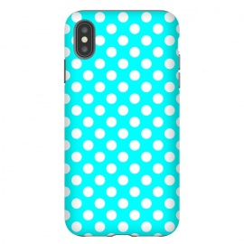 iPhone Xs Max  Polka Dots Turquoise by Alemi