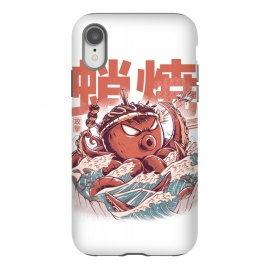 Takoyaki Attack by Ilustrata (Monsters, Food, takoyaki, Great wave off kanagawa, Retro, great wave, kaiju, tako, japanese, japan, japanese food,retroart, japanese art,octopus  )