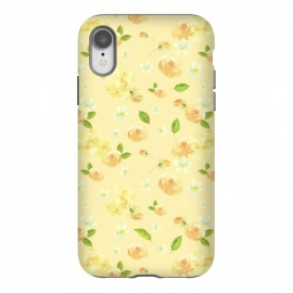iPhone Xr  Lovely Yellow Roses Pattern by Utart