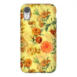 iPhone Xr  Yellow vintage Flower Pattern by Utart