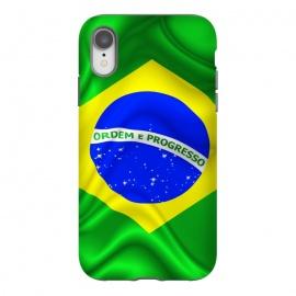 iPhone Xr  Brazil Waving Silk Flag by