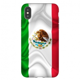 iPhone Xs Max   Mexico Waving Silk Flag by BluedarkArt
