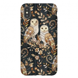 iPhone Xs Max  Wooden Wonderland Barn Owl Collage by Micklyn Le Feuvre