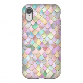iPhone Xr  Blush Rose Gold Wonky Mermaid Scales by Utart