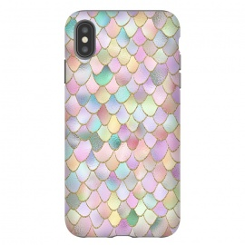 iPhone Xs Max  Blush Rose Gold Wonky Mermaid Scales by