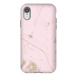 iPhone Xr  Luxe gold and blush marble image by InovArts