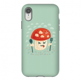 iPhone Xr  Funny Poisoned Mushroom Character by Boriana Giormova