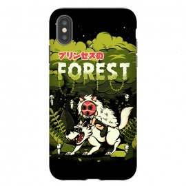 iPhone Xs Max  The Forest Princess by Ilustrata (wolf, anime, forest, plant, flower, mononoke, Hime, princess, princesa)