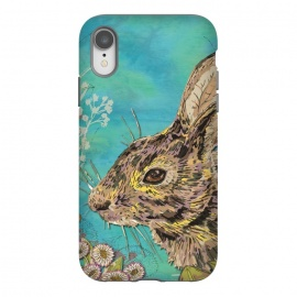 iPhone Xr  Rabbit and Daisies by Lotti Brown