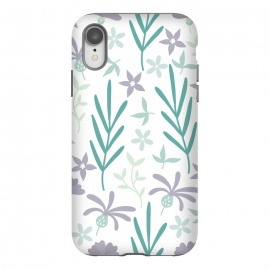 iPhone Xr  Beautiful Garden Purple & Turquoise by ArtPrInk