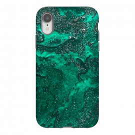 iPhone Xr  Green Glitter by  (glitter,green,paint,painted,painting)
