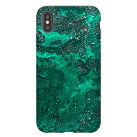 iPhone Xs Max  Green Glitter by  (glitter,green,paint,painted,painting)