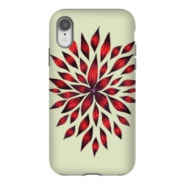 iPhone Xr  Hand Drawn Abstract Red Ink Doodle Flower by Boriana Giormova