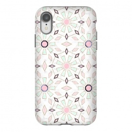 iPhone Xr  Modern gold Moroccan geometric flower marble image  by InovArts