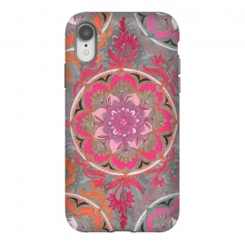 iPhone Xr  Hot Pink, Magenta and Orange Super Boho Medallions by Micklyn Le Feuvre
