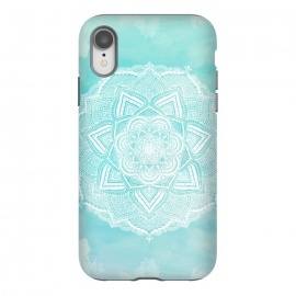 iPhone Xr  Mandala flower turquoise by Jms