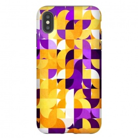 iPhone Xs Max   Geometric XXV by Art Design Works ( Geometric XXV,Graphic-design,Digital,Pattern,Texture,Dark,Dreamy,Abstract,Elements,Shapes,Geometric,Paint,Artistic,Design,Fashion,Trend,Colors,Print,Dynamic,decorative,Colorful,lovely,warm,phone cases,arts case,art,shape,stylish,trends,ultra violet,purple,yellow,orange,tangerine)