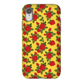 iPhone Xr  Vintage Rosy Floral-Yellow by Quirk It Up