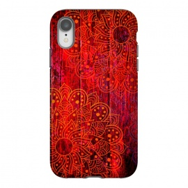 iPhone Xr  Mandala in Red Wood by Rossy Villarreal