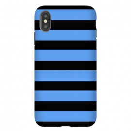 iPhone Xs Max  blue black stripes by Vincent Patrick Trinidad