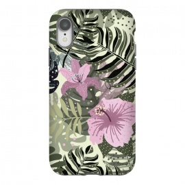 Pastel Green Pink Aloha Tropical Jungle by Utart