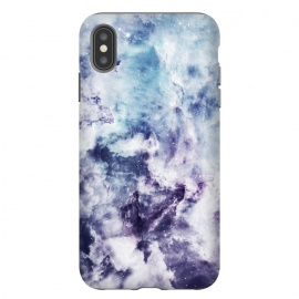 iPhone Xs Max  Blue purple marble by Jms