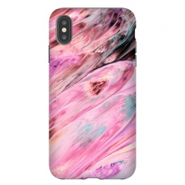 Pink and Black Ink Marble by Utart