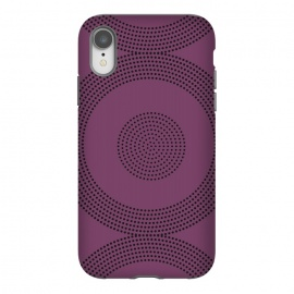 iPhone Xr   Dotted Circles Purple by ArtPrInk