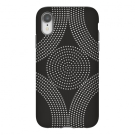 iPhone Xr   Dotted Circles Black & White by ArtPrInk