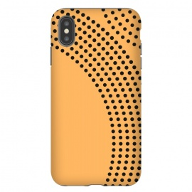 iPhone Xs Max   Dotted Circles Yellow Mango by ArtPrInk