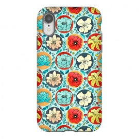 iPhone Xr  Polka Dot Floral On Navy  by