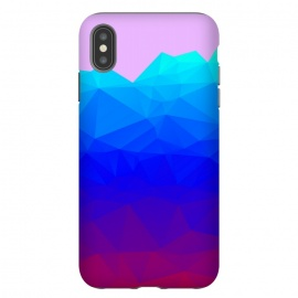 iPhone Xs Max  blue shaded triangle pattern by MALLIKA