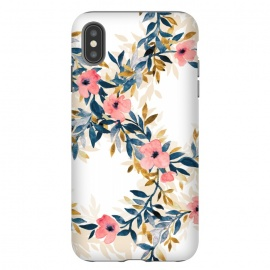 iPhone Xs Max  Spring Blossom Watercolor Wreath by Micklyn Le Feuvre