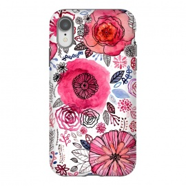 iPhone Xr  Pink Floral Mix  by Tigatiga