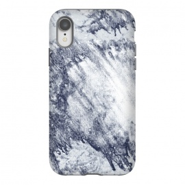 iPhone Xr  Grey-Blue Marbling Storm  by
