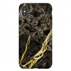iPhone Xs Max  Grey gold elegant marble by Oana