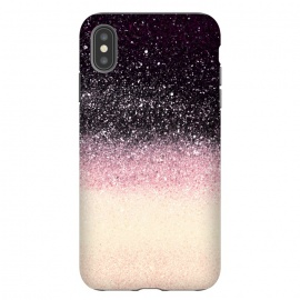 Half black cream glitter star dust by Oana