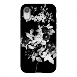 iPhone Xr  Black and white rose botanical illustration by
