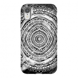 Black & White Marbling Mandala  by Tigatiga