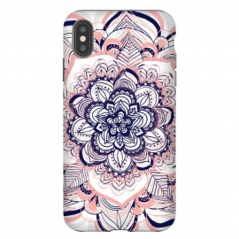 iPhone Xs Max  Purple, Blue and Pink Netted Mandala by Tangerine-Tane
