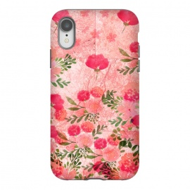 iPhone Xr  Vintage Rose on Marble by Rossy Villarreal