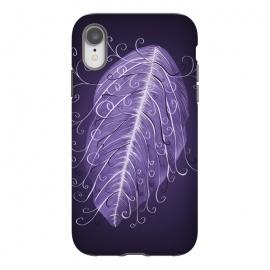 iPhone Xr  Violet Swirly Leaf by